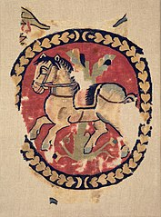 Curtain Fragment with Galloping Horse