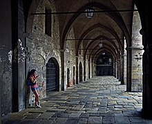 Cloister of the University of Bergamo. Italy.jpg