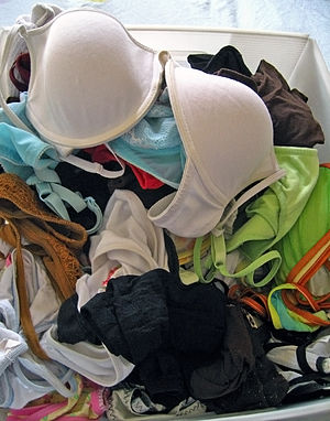 English: The reality of lingerie, as opposed t...