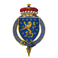 Coat of Arms of Sir John Beaumont, 1st Viscount Beaumont, KG.png