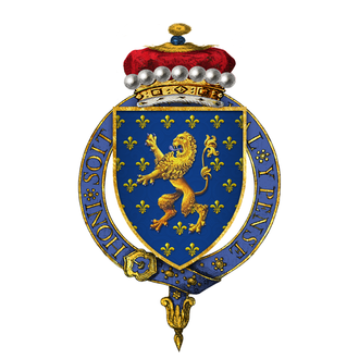 John Beaumont, 1st Viscount Beaumont - Arms of Sir John Beaumont, 1st Viscount Beaumont, KG