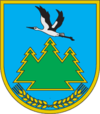Coat of arms of Manevickij district.png