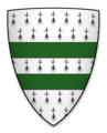 Coat of arms of William de Lanvallei, Lord of Standway Castle.png