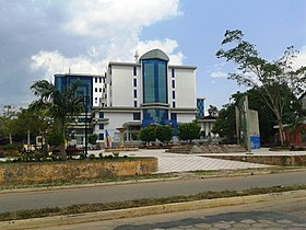 Judicial Square in downtown Cobija