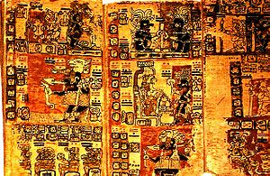 Maya book from the 16th century written in the...