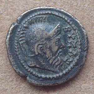 Byzas - Coinage with idealized depiction of Byzas, founder of Byzantium. Struck in Byzantium, Thrace, around the time of Marcus Aurelius (161–180 CE).