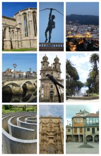 Pontevedra City in Galicia, Spain