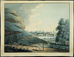 Civic Center, Manhattan - A 1798 watercolor of the Collect Pond
