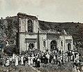 Collectie Nationaal Museum van Wereldculturen TM-60062034 Ruine van de katholieke kerk van St. Pierre, door een vulkaanuitbarsting verwoest Martinique fotograaf niet bekend.jpg