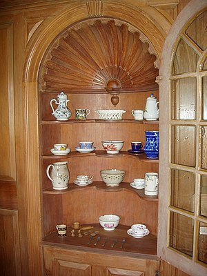 Colonel John Ashley House - Image: Colonel John Ashley House (Sheffield, MA) china cabinet