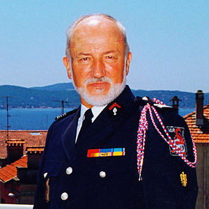Honour medal for firefighters - Colonel Michel Lafourcade, a recipient of the Honour medal for firefighters
