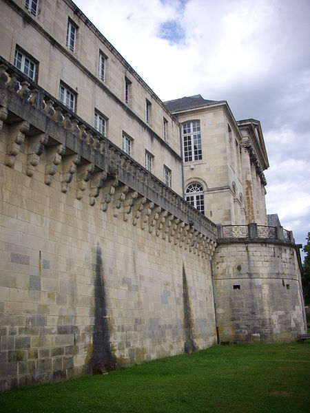 Stanislas castle of Commercy (Meuse, France), Marne-Rhine canal side