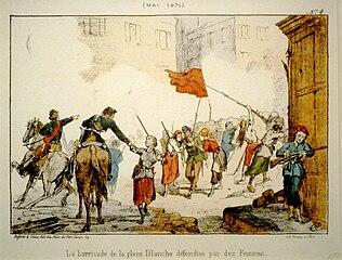 Commune de Paris - barricade Place Blanche