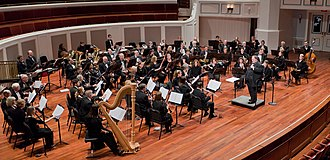 Concert band - A full concert band—Indiana Wind Symphony in concert, 2014