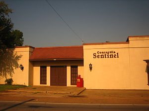 Sam Hanna - Concordia Sentinel newspaper office in Ferriday. The Sentinel was founded by J.L. Rountree in 1882, purchased by Sam Hanna, Sr., in 1965, and is currently published by Sam Hanna, Jr., of West Monroe.