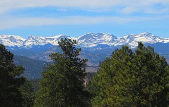Colorado - Front Range Peaks west of Denver