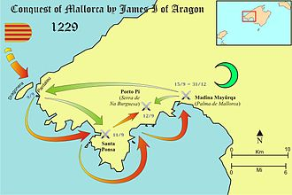 Kingdom of Majorca - Conquest of Majorca by James I of Aragon (1229)