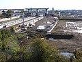 Construction of Meridian Water Station, Angel Road, N18 - 43647863310.jpg