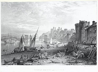 Conway Bridge and Castle, North Wales