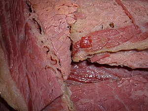Corned beef - Image: Cooked corned beef