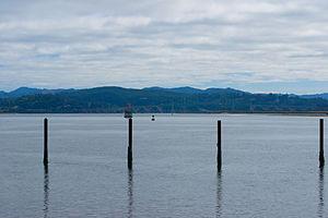 Coos Bay - Coos Bay looking east toward the McCullough Memorial Bridge