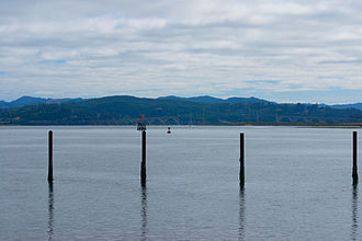 Coos Bay - Coos Bay looking east toward the McCullough Memorial Bridge