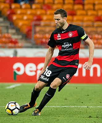 Robert Cornthwaite (footballer) - Cornthwaite playing for Western Sydney Wanderers in 2017