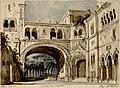 Cortile del Chiostro, bozzetto di Carlo Ferrario per La Forza del destino (1869) - Archivio Storico Ricordi ICON000195 B.jpg