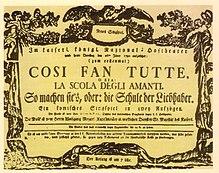 In Josephs Auftrag geschaffen: Mozarts Così fan tutte (1790) (Quelle: Wikimedia)