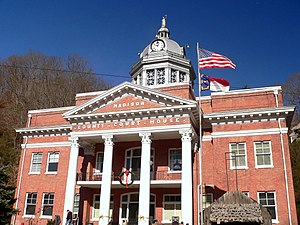 English: The Madison County courthouse in Nort...