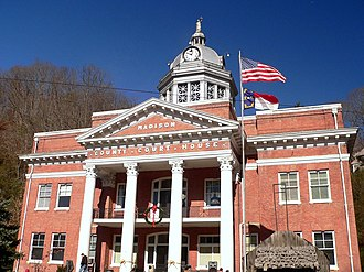 Madison County, North Carolina - Image: Court House, Madison County, NC
