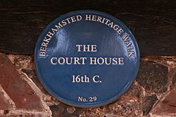 Photo of Court House, Berkhamsted blue plaque