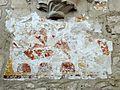 Crépy-en-Valois (60), château Saint-Aubin, chapelle, peinture murale entre la 2e et la 3e travée au sud.JPG