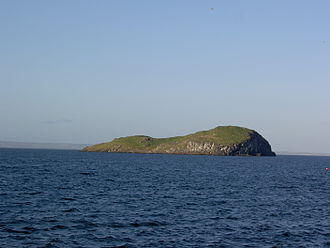 Islands of the Forth - Craigleith from North Berwick harbour