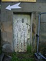 Crazed door, Grove Square, Chipping - geograph.org.uk - 943337.jpg