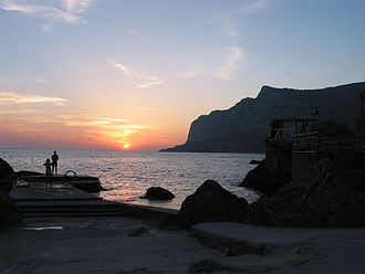 Black Sea - Sunset on the Black Sea at Laspi, Crimea