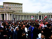 Crowd at Pope's Funeral