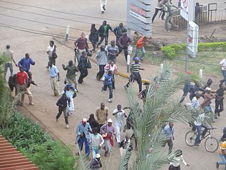 Flocking (behavior) - Image: Crowd fleeing sounds of gunfire near Westgate