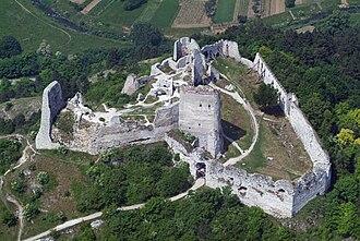 Čachtice Castle - Image: Csejtecivertanlegi 1