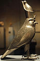 Cult Statue of Horus as Falcon Wearing Double Crown of Egypt - Side View - 27th Dynasty.jpg