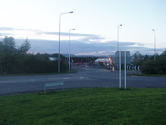 A4050 road - The road at Culverhouse Cross