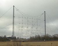 Curtain antenna at Hoerby shortwave station.JPG