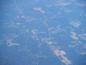 Cuthbert, Georgia - Aerial view of Cuthbert