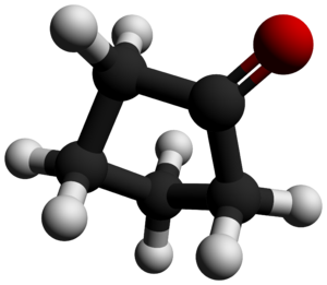 Cyclopentanone - Image: Cyclopentanone 3D balls by AHRLS 2012