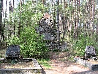 Umer Adamanov - 2006 photograph of the cemetery in Hamernia, Józefów where Adamanov is buried.