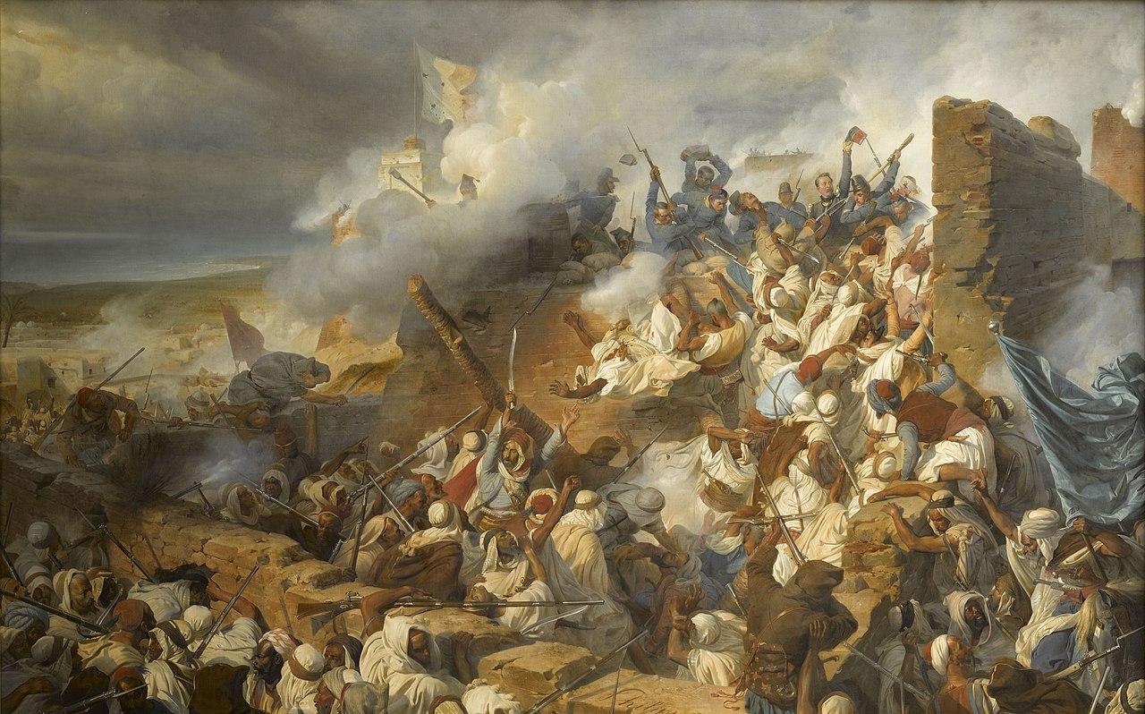 Battle of Mazagran (1840), by Henri Félix Emmanuel Philippoteaux (Wikimedia Commons)