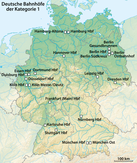 Hamburg Hauptbahnhof Karte.Liste Der Deutschen Bahnhöfe Der Kategorie 1 Wikipedia