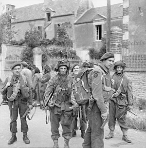 6th Airborne Division advance to the River Seine - British commando and parachute troops in Normandy