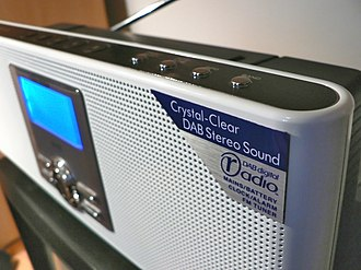 Digital radio in the United Kingdom - A typical DAB digital radio receiver with the Digital Radio Development Bureau DAB digital radio marketing logo