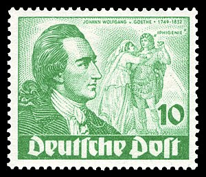Iphigenia in Tauris (Goethe) - Image: DBPB 1949 61 Johann Wolfgang von Goethe